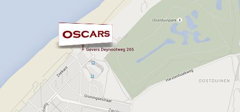 Locatie Oscars Scheveningen met parkeren